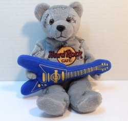 Hard Rock Cafe Herrington Teddy Bear Beanie Philadelphia 2006