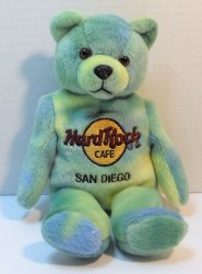 Hard Rock Cafe Monty Beara Beanie Bear San Diego 2001