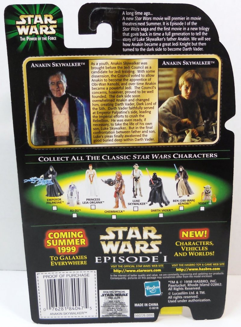 Star Wars Power of the Force Green Flashback photo 1998