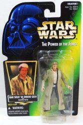 Star Wars Han Solo Endor Gear POTF Ltd ed hologram card 1996