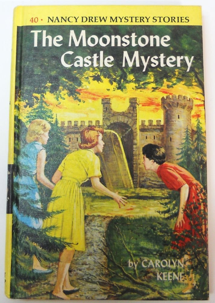 Nancy Drew Mystery book 40 The Moonstone Castle Mystery picture cover by Carolyn Keene