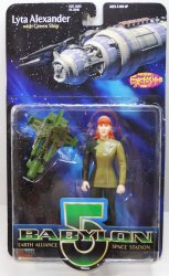 Babylon 5 Lyta Alexander, no gloves variant w/green ship 6 inch figure