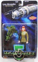 Babylon 5 Lyta Alexander, no gloves variant w/green ship 6 inch figure