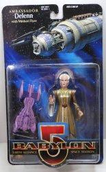 Babylon 5 Ambassador Delenn with Minbari Flyer 6 in action figure