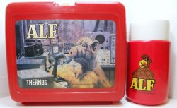 Alf television series lunch box with thermos 1987