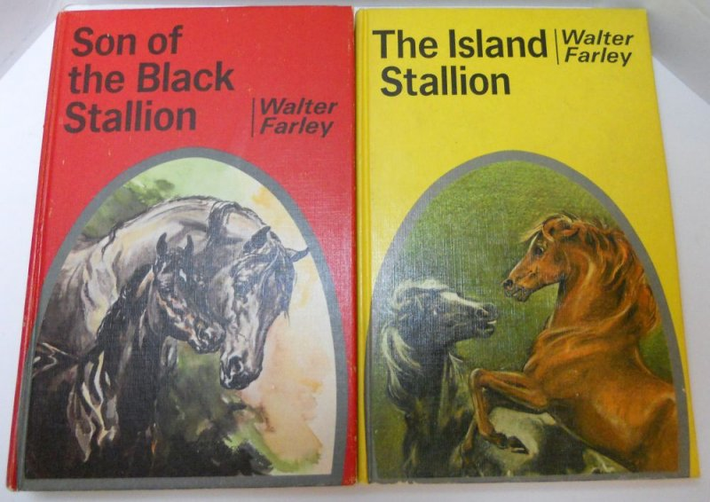 Black Stallion Book Cover ~ The black stallion series books pc lot by walter