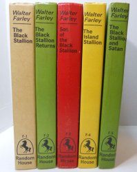 The Black Stallion Series books 1-5 PC lot by Walter Farley 1960s