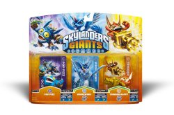Skylanders Giants Pop Fizz, Whirlwind, Trigger Happy Triple pack set