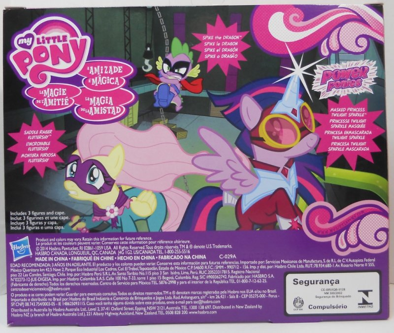 My Little Pony Twilight Sparkle, Fluttershy and Spike pack