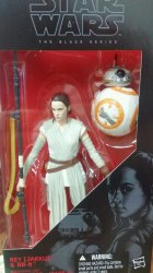 Star Wars Black Series 6 in Rey and BB-8 Wave 1 and 4.5 versions