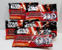 Star Wars Galactic Connexions 5 packs TOPPS collectible trading discs and game