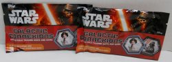 Star Wars Galactic Connexions 2 packs TOPPS collectible trading discs and game