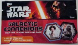 Star Wars Galactic Connexions 1 pack TOPPS collectible trading discs and game