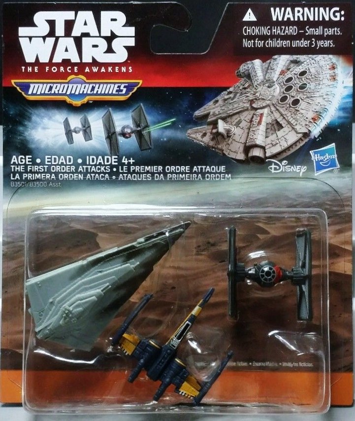 Star Wars The Force Awakens Micro Machines 4 sets