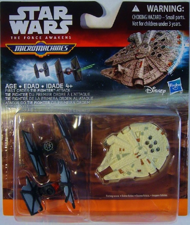 Star Wars The Force Awakens Micro Machines 3 sets