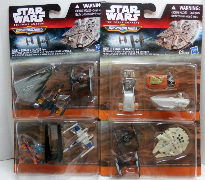 Star Wars The Force Awakens 3-Pack Micro Machines 4 sets