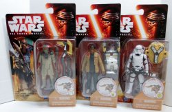 Star Wars Desert Mission Flametrooper, Finn, Constable Zuvio Wave 1 figures