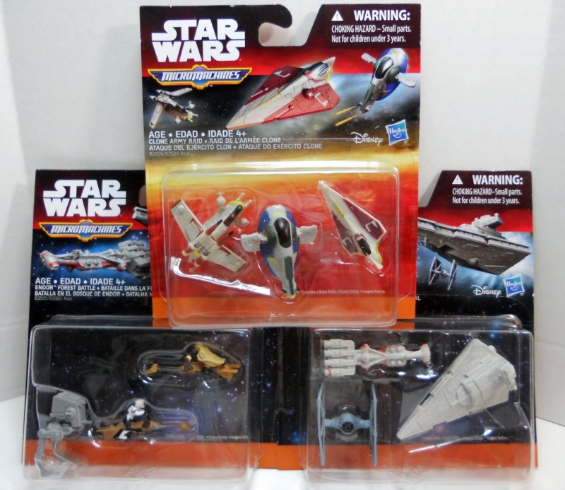 Star Wars 3-Pack Micro Machines The Force Awakens series
