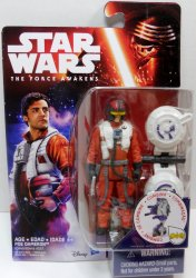 """The Force Awakens 3.75/"""" Space Mission Poe Dameron Action Figure Star Wars"""