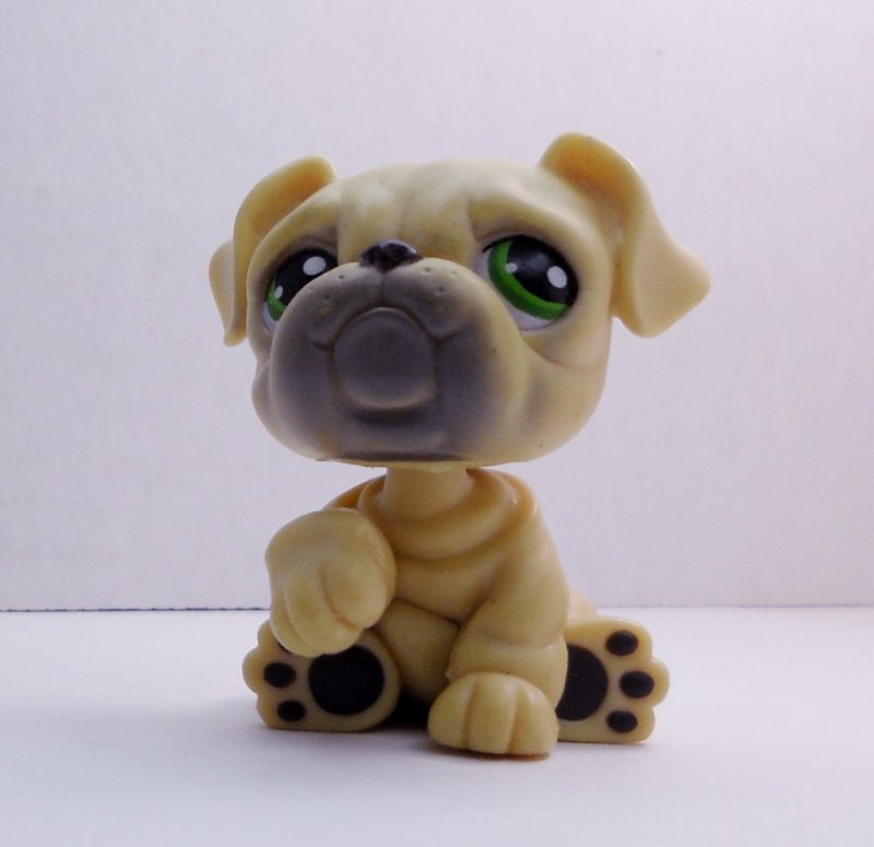 littlest pet shop bulldog littlest pet shop english bulldog 107 yellow tan green 2944