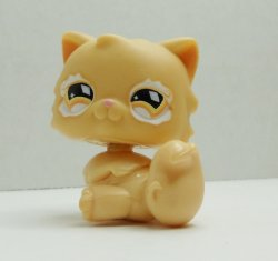 Littlest Pet Shop Orange Persian Cat #490 loose