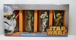 Star Wars character glasses Vader, Boba Fett, Clone Trooper and Yoda