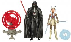 '.Vader and Ahsoka figures.'