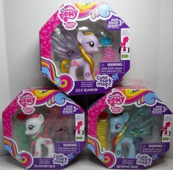 My Little Pony Water Cuties Blossomforth, Lily Blossom, Rainbow Dash wave 2