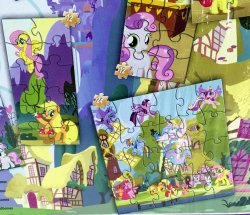'.My Little Pony 7 Wood Puzzles.'