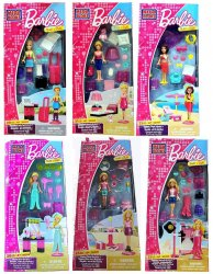 Mega Bloks Barbie Build 'n Style 6 Mini Sets 80203-80208