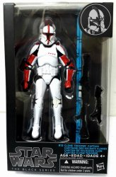 Star Wars The Black Series Clone Trooper Captain #13 figure blue strip series