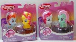 My Little Pony Playskool Rainbow Dash, Bumblesweet, Moon Dance, Minty