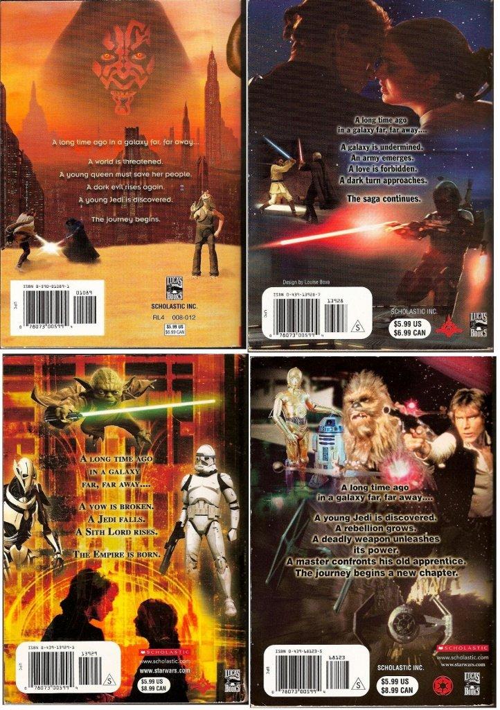 Star Wars Episode I Iv Scholastic Junior Novelizations Based On Script