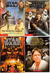 Star Wars Episode I-IV Scholastic Junior Novelizations based on script