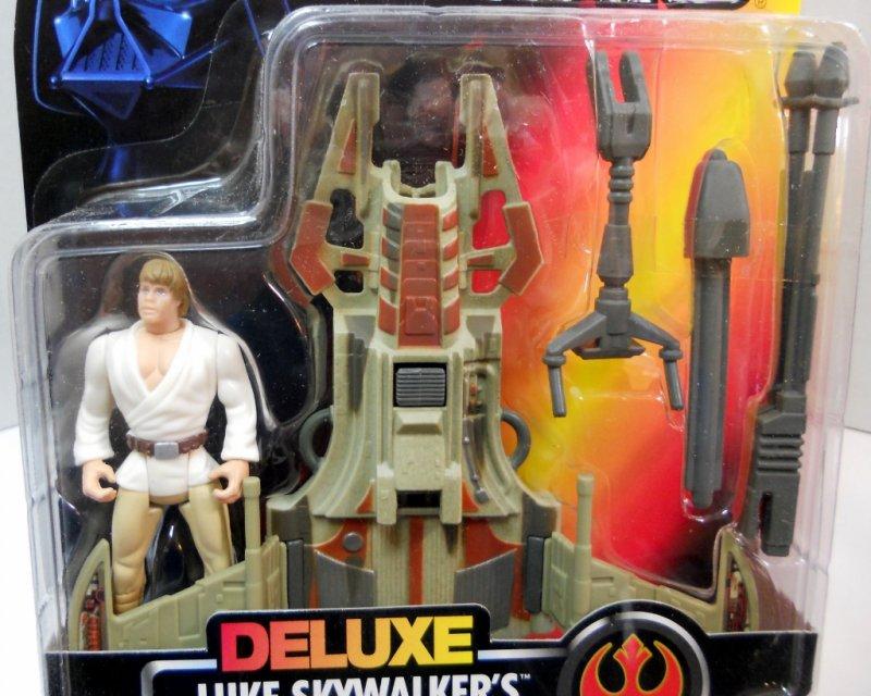 Star Wars Deluxe Luke Skywalker With Desert Sport Skiff POTF Kenner NEW VGC