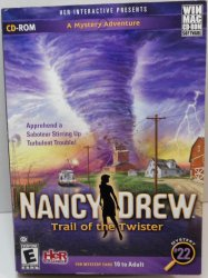 Nancy Drew Mystery #22 Trail of the Twister Win/Mac games