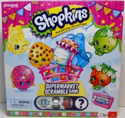 Shopkins Supermarket Scramble Game 2 exclusives w/Silver Rolla Tape