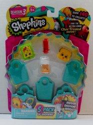 Shopkins 5 pack Season 3 Snug Ugg Lana Banana Bread Pop Rock