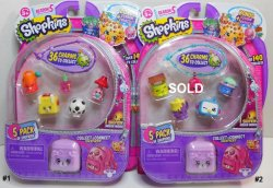 Shopkins Season 5 charms backpacks 5 pack