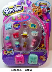 Shopkins Season 5 charms backpacks 12 pack