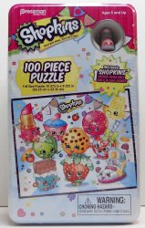 Shopkins Puzzle Tin with Game only designed Shopkin figure