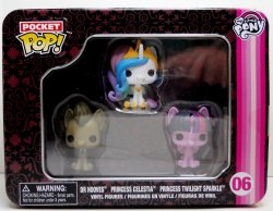 My Little Pony Funko Pocket Pop Celestia, Dr Hooves, Twilight Sparkle
