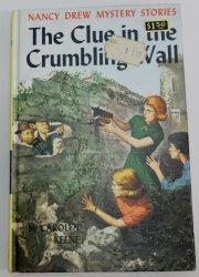 Nancy Drew #22 The Clue in the Crumbling Wall blue EP PC OT Carolyn Keene