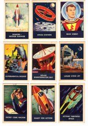 Space Patrol Cereal Trading Cards 10 Wheat Chex/Rice Chex 1953