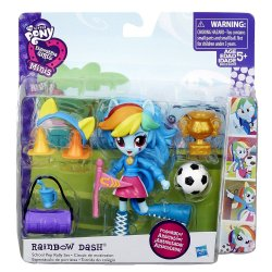 My Little Pony Rainbow Dash School Pep Rally set Equestria Girls minis