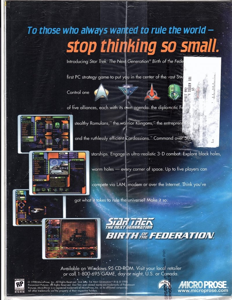 The Magazine The Official Star Trek Fan Club 1998-99