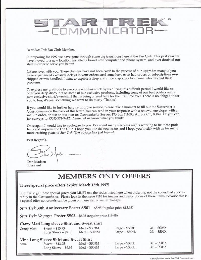 The Magazine The Official Star Trek Fan Club 1997