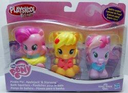 My Little Pony Playskool Friends Bath Squirters Pinkie, Starsong, Applejack