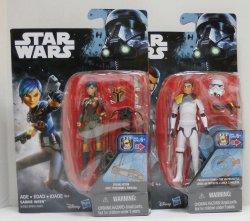 Star Wars Rebels Sabine Wren and Kanan Jarrus Stormtrooper Disguise 3.75 in