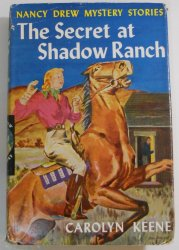 Nancy Drew #5 The Secret of Shadow Ranch, 1931 DJ tweed OT digger EP